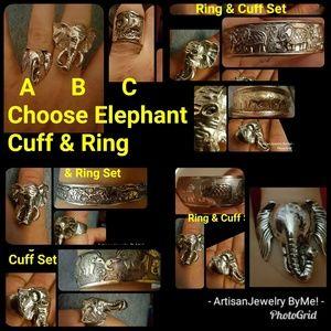 ElephantRing&Cuff SetChooseOne Ring & One Cuff